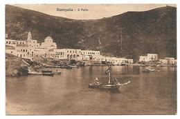 OLD POSTCARD WITH VIEW OF STAMPALIA - IL PORTO , 1935 . - Greece