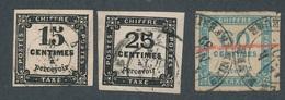 CF-190: FRANCE:lot Avec N°3-5-9 - Taxes