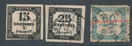 CF-190: FRANCE:lot Avec N°3-5-9 - Postage Due