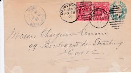 L4O007 GB 1902 Entier Postal  1p 1 P 1/2p Dartford Pour Le Havre France 28 11 1902 - Luftpost & Aerogramme