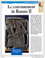 COURONNEMENT DE RAMSES II  Histoire Fiche Dépliante Egypte Des Pharaons - Histoire