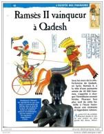 RAMSES II  VAINQUEUR A QADESH  Histoire Fiche Dépliante Egypte Des Pharaons - Geschiedenis