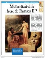 MOISE FRERE DE RAMSES II    Histoire Fiche Dépliante Egypte Des Pharaons - Geschiedenis