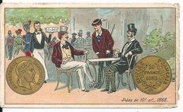 """Chromos Chicorée Bériot Lille A La Belle Jardinière Série Monnaies """"Pièce 10 Fr Or 1868"""" - Té & Café"""