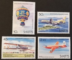 St Kitts And Nevis 1983  Manned Flight Bicent. POSTAGE FEE TO BE ADDED ON ALL ITEMS - St.Kitts And Nevis ( 1983-...)