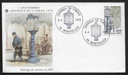 FRANCE N° 2004  1 ENVELOPPE JOURNEE DU TIMBRE FDC CàD MONTPELLIER (34) GF 1er JOUR 1978 FACTEUR PARISIEN - Frankreich