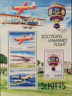 St Kitts And Nevis 1983  Manned Flight Bicent. S/S - St.Kitts And Nevis ( 1983-...)