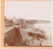 Arromanches - Photo ! C.1900 La Digue Plage Escalier - Old (before 1900)