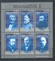 Féroé 2008 N°637/642 Neufs Personnalités - Faroe Islands