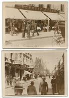 2 OLD PHOTO - POSTCARD WITH VIEW OF GALATI ( ROUMANIE ) BERARIA AZUCA , 1935 . - Romania