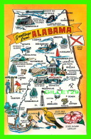 CARTES GÉOGRAPHIQUES - GREETINGS FROM ALABAMA -  SCENIC SOUTH CARD CO - - Cartes Géographiques