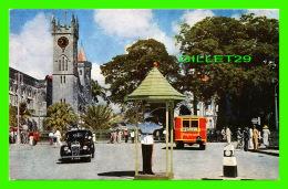 BRIDGETOWN, BARBADOS - TRAFALGAR SQUARE - ANIMATED WITH OLD CARS - - Barbades