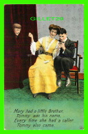 COUPLES - MARY HAD A LITTLE BROTHER TOMMY WAS HIS NAME -  TRAVEL IN 1910 - BAMFORTH & CO - - Couples