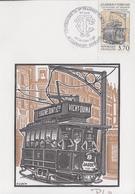 Carte  Maximum  1er  Jour   Centenaire  Du  1er  Tramway   Electrique     CLERMONT  FERRAND    1989 - Cartes-Maximum