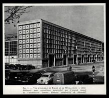 1951  --  BELGIQUE  LIEGE  VUE D ENSEMBLE DU PALAIS DE LA METTALURGIE     3P987 - Vieux Papiers