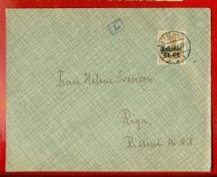 GERMANY LATVIA RUSSIA ENVELOPE USED LIBAU OBER OST MILITARY CENSORSHIP 1917s 677 - Deutschland