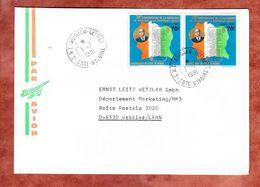 Luftpost, MeF Geburtstag Felix Houphouet-Boigny, Abidjan Nach Wetzlar 1981 (58003) - Côte D'Ivoire (1960-...)