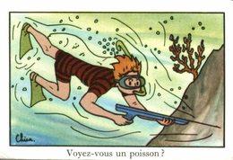 CHROMO EDITIONS EDUCATIVES PARIS SERIE A  VOYEZ-VOUS UN POISSON ? - Trade Cards