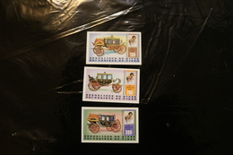 Niger 548-550 Royal Wedding Prince Charles And Lady Diana Coaches IMPERFORATE MNH 1981 A04s - Niger (1960-...)