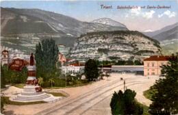 Trient - Bahnhofsplatz Mit Dante-Denkmal (120/3) - Trento