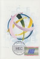 Carte Maximum  1er  Jour   FRANCE   Centenaire   H.E.C    JOUY  EN  JOSAS   1981 - Cartes-Maximum