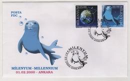 TURQUIE,TURKEI TURKEY AND CYPRUS  2000 MILLENNIUM FDC - 1921-... République