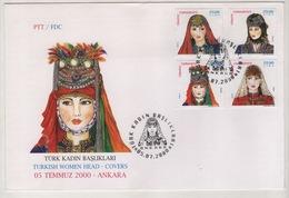 TURQUIE,TURKEI ,TURKEY ,TURKISH WOMEN HEAD-COVERS 2000  FDC - 1921-... République