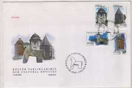TURQUIE,TURKEI ,TURKEY ,OUR CULTURAL ENTITIES  2000  FDC - 1921-... République