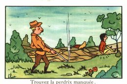 CHROMO EDITIONS EDUCATIVES PARIS SERIE A   TROUVEZ LA PERDRIX MANQUEE - Trade Cards