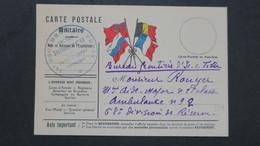 Carte Franchise Militaire ( Section Boulangerie ) Bureau Frontière D'Is Sur Tille Cote D'Or 1914 - Marcophilie (Lettres)