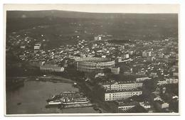 "OLD POSTCARD WITH VIEW OF POLA ( CROATIA )  POSTAL CANCELLATION : "" POLA - SAN MARTINO , 1925  ""  . - Kroatië"