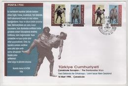 TURQUIE,TURKEI ,TURKEY ,THE DARDANELLES WAR  1998  FDC - 1921-... République