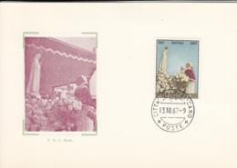 Vatican City 1967 Maxicard Scott #457 Pope Paul VI At Fatima 50th Anniversary - Cartes-Maximum (CM)
