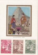 Vatican City 1965 Maxicard Scott #420-#422 Peruvian Nativity Scene Christmas - Cartoline Maximum