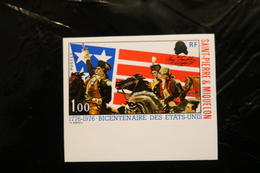 St Pierre & Miquelon 447 IMPERFORATE US Bicentennial Horses 1976 A04s - Imperforates, Proofs & Errors
