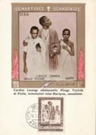 Vatican City 1965 Maxicard Scott #405 Canonization Of Ugandian Martyrs - Cartes-Maximum (CM)