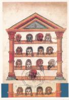 Vatican City 1997 Maxicard Scott #1045b Masks From 'Comedies' 2 Women - Cartes-Maximum (CM)