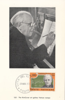 Vatican City 1972 Maxicard Scott #527 Lorenzo Perosi, 'Hallelujah' Music - Cartes-Maximum (CM)