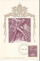 Vatican City 1966 Maxicard Scott #430 Plowing Farmer - Cartes-Maximum (CM)
