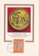 Vatican City 1970 Maxicard Scott #484 Centenary Medal Jesus Giving St. Peter Keys - Cartes-Maximum (CM)