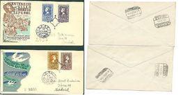 ESPAGNE SPAIN SPAIN ESPAÑA 1950 STAMP CENTENARY SET 4V. FDC ED 1075-76 & 1079-80 YV 802-03 Et AERIE S 242-43 MI 975-76 A - 1931-50 Neufs