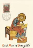 Liechtenstein 1987 Maxicard Scott #874 50rp St. Mark Christmas - Cartes-Maximum (CM)