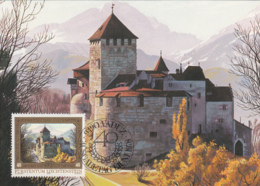 Liechtenstein 1976 Maxicard Scott #650 40rp Vaduz Castle Prince Franz Joseph II 40th Anniversary - Cartes-Maximum (CM)
