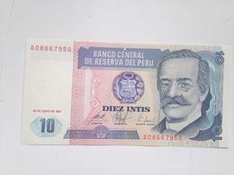 Billete Perú. 10 Intis. 1987. Original. Sin Circular - Perú