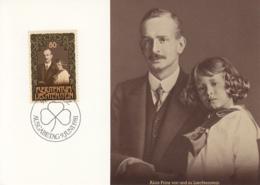 Liechtenstein 1981 Maxicard Scott #710b 80rp Princes Alois, Franz Joseph II 75th Birthday - Cartes-Maximum (CM)