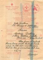 DEUTSCHES ROTES KREUZ COMITE CROIX ROUGE INTERNATIONALE GENEVE  CORRESPONDANCE JULES GUILLOUX PRISONNIER A LEIPZIG 1944 - Documents