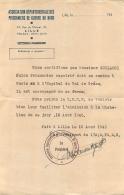 ASSOCIATION DEPARTEMENTALE DES PRISONNIERS DE GUERRE DU NORD LILLE  JULES GUILLOUX PRISONNIER RAPATRIE POUR SNCF - Documents