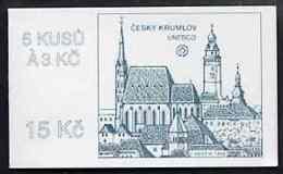 Booklet - Czech Republic 1993 Cesky Krumlov 15kc Booklet TOURISM UNESCO UNITED NATIONS Complete And Fine, Pane Of 5 X Mi - Blocks & Sheetlets