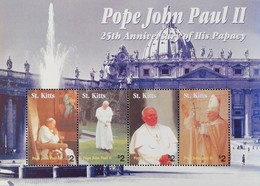 St Kitts And Nevis   2004 Election Of Pope John Paul II 25th. Snniv.M/S - St.Kitts And Nevis ( 1983-...)