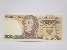 Billete Polonia. 500 Zlotych. 1982. Original. Sin Circular - Poland